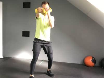 Cours de sport en ligne sur du cardio training avec votre coach