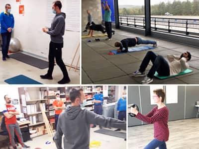 Coaching en entreprise sur les troubles musculo-squelettiques avec un coach sportif